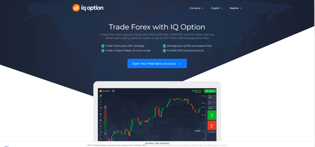 Broker forex IQ Option