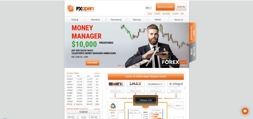 FXOpen forex broker list 2020