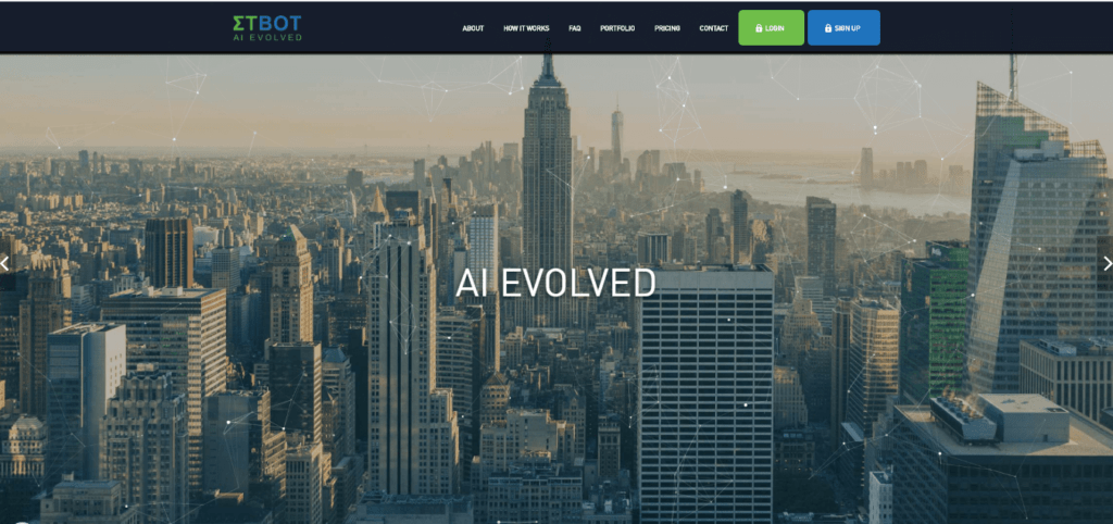 ETBot AI Evolved Cryptocurrency Auto Trader Robot