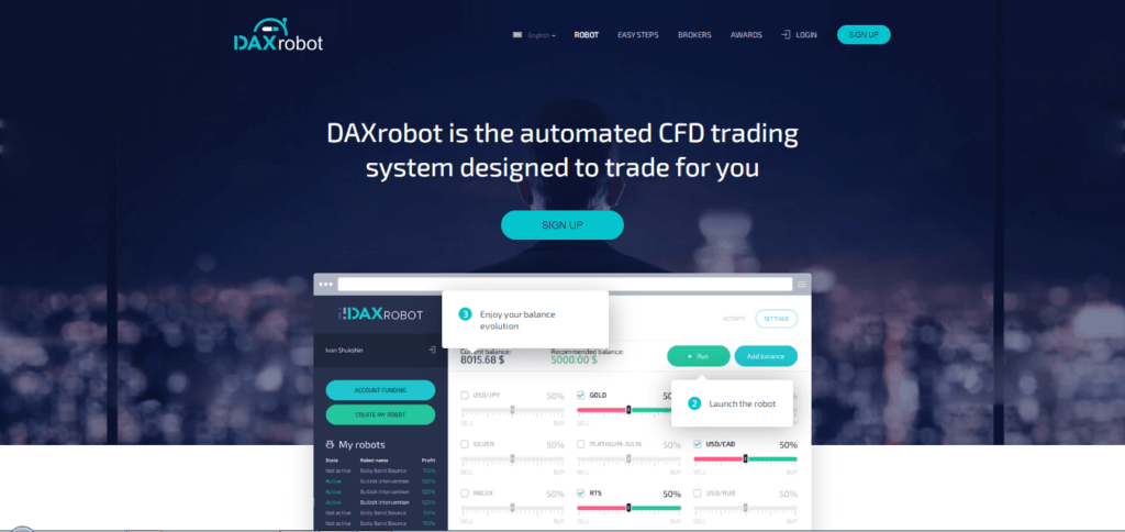 روبوت تداول العملات الأجنبية Daxrobot