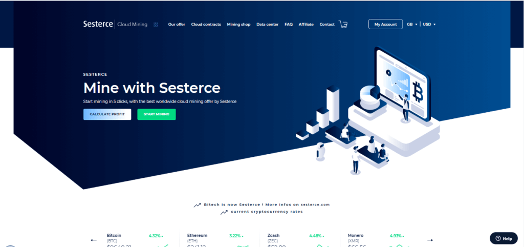 Sesterce is among the cloud Mining Companies