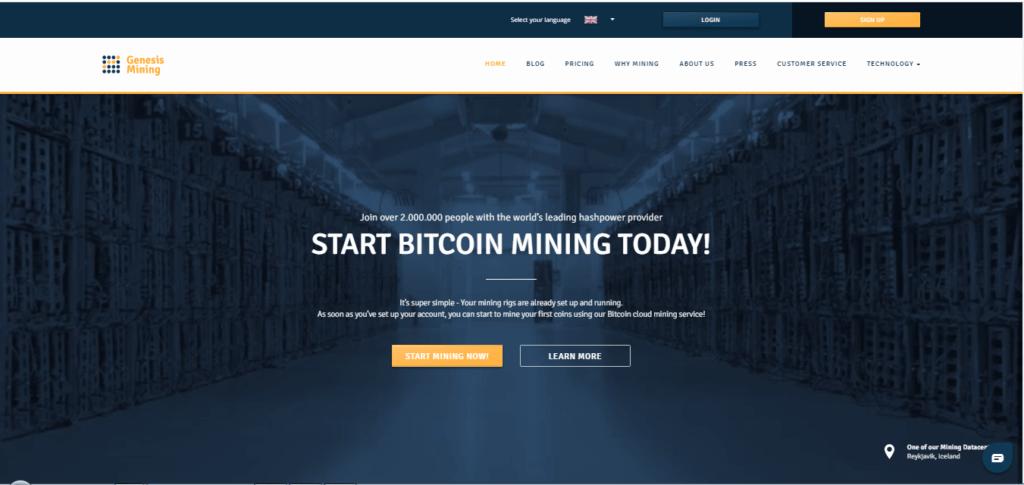 Genesis Mining Crypto cloud Mining Company