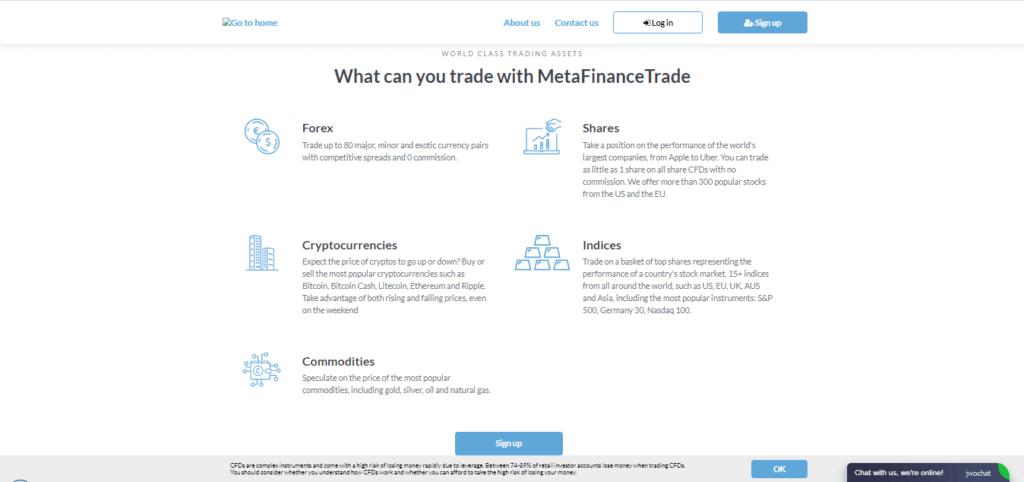 MetaFinanceTrade Assets/Trading Instruments