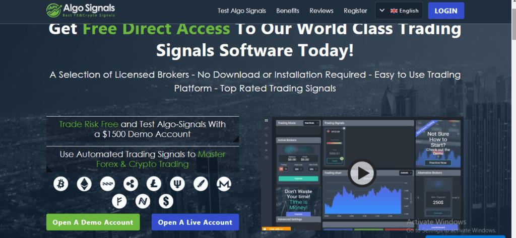Algo Signals Scam Review, Algo Signals Platform