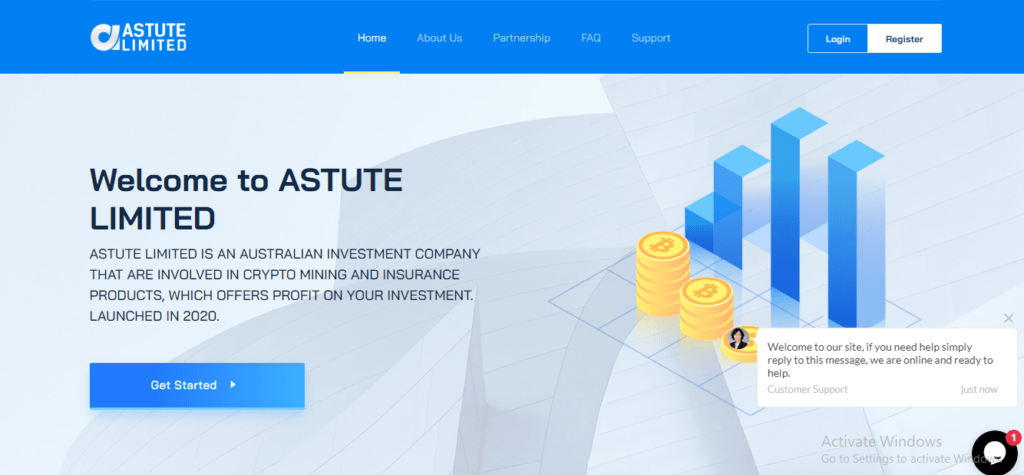 Astutelimited.cc Scam Review, Astute Limited Platform