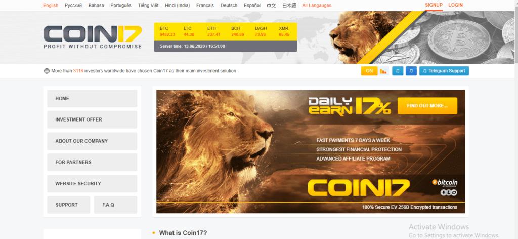 Coin 17 Review: C17.top Platform