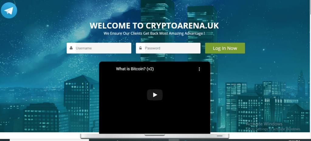 Crypto Arena Scam Review, Crypto Arena Platform