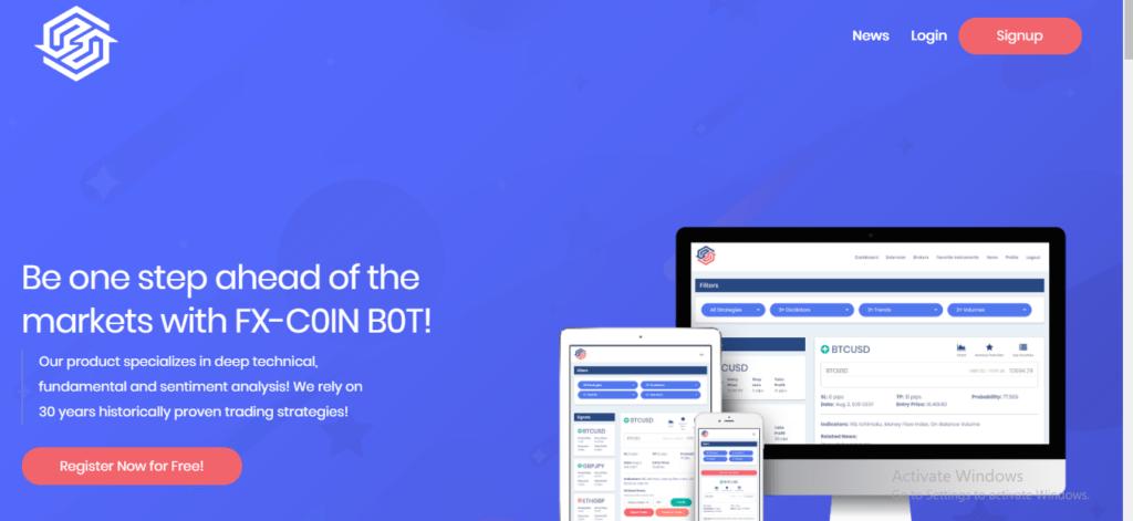 Fxcoinbot.com Scam Review, FXCOINBOT platform