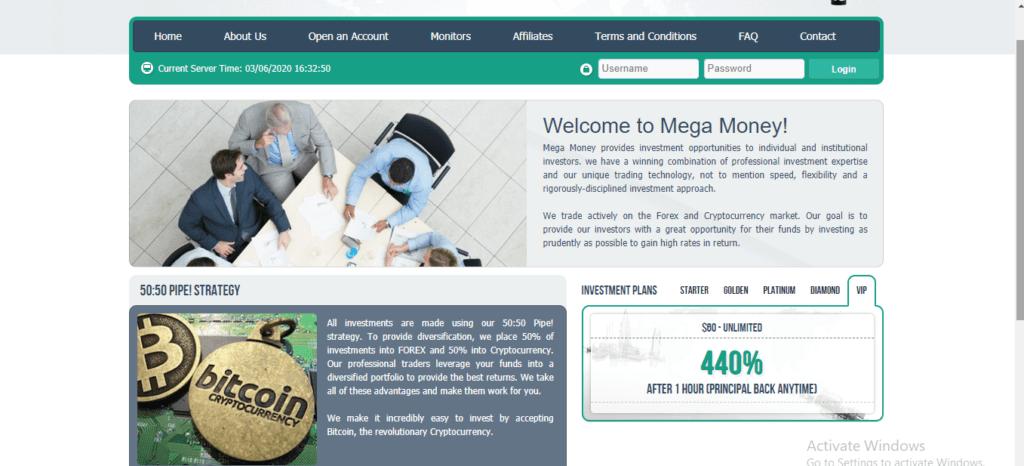 Megamoney.pw Scam Review, Mega Money Platform