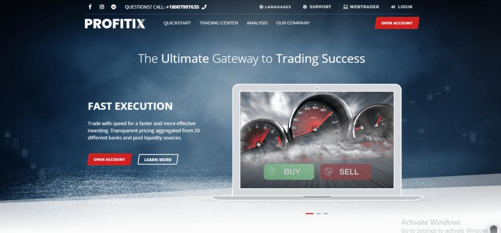 Profitix.com Scam Review, ProfitiX Platform