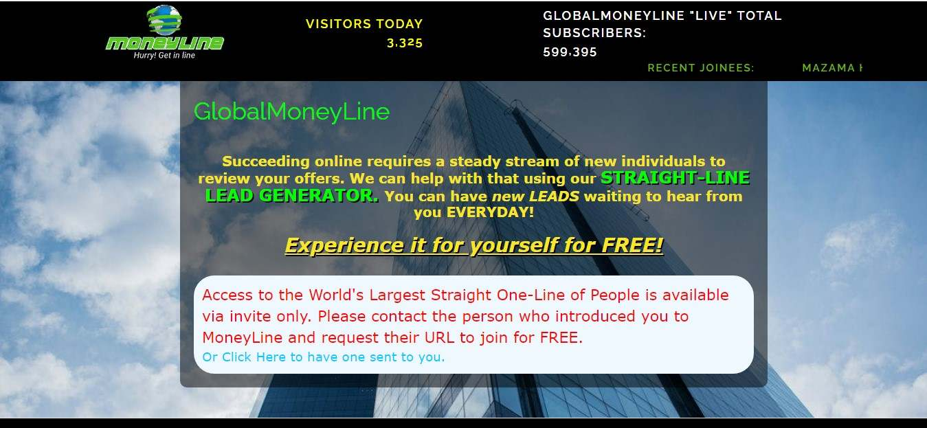 revisão global moneyline, revisão MLM globa moneyline