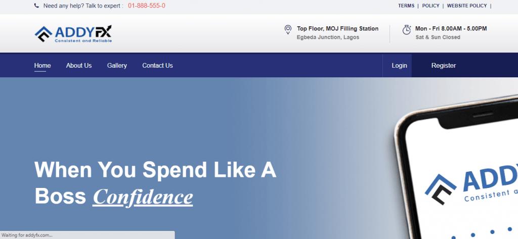 مراجعة AddyFx ، شركة AddyFx