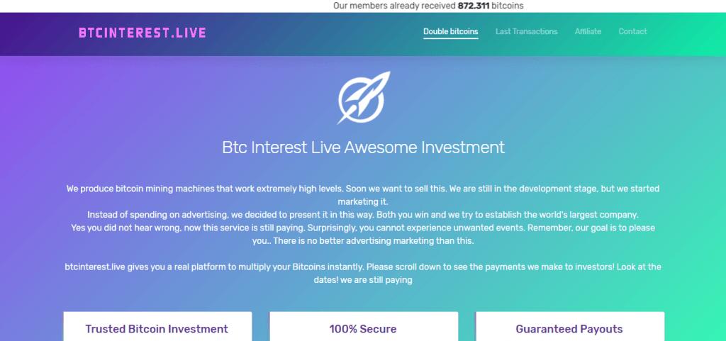 مراجعة BTC Interest Live ، شركة BTC Interest Live