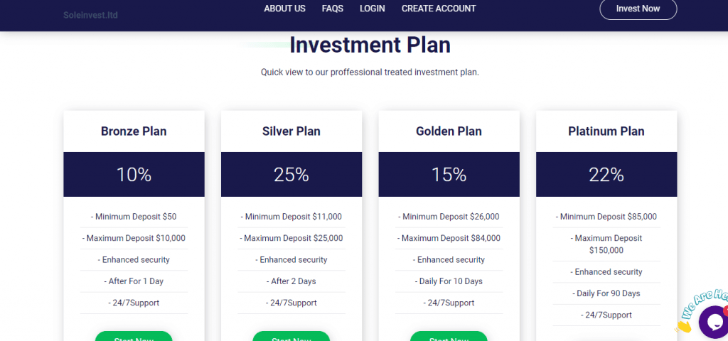 Soleinvest Scam, Soleinvest investeringsplannen