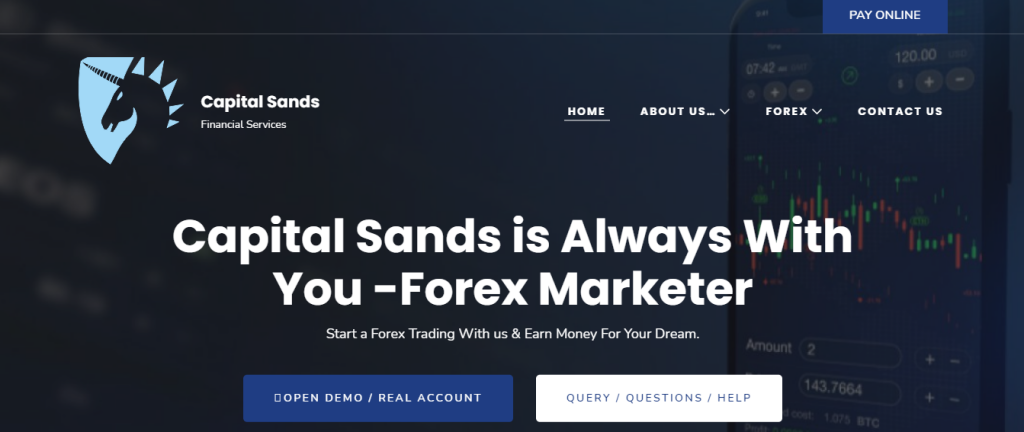 Обзор Capital Sands Fx, Capital Sands Fx Company