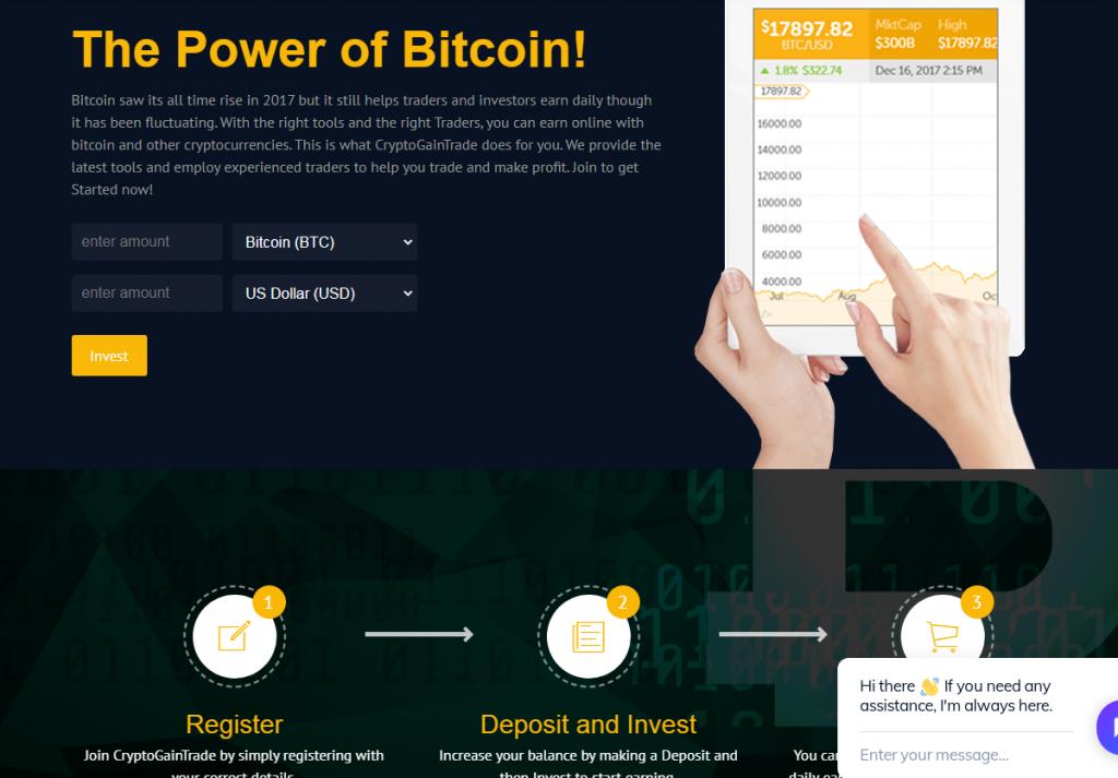 Обзор мошенничества CryptoGainTrade, особенности CryptoGainTrade