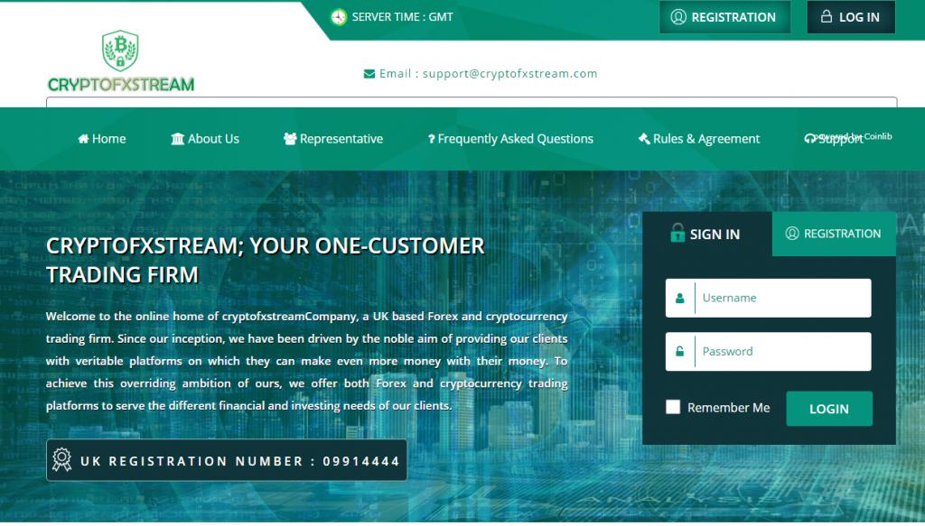 CryptoFXStream Review, CryptoFXStream Company