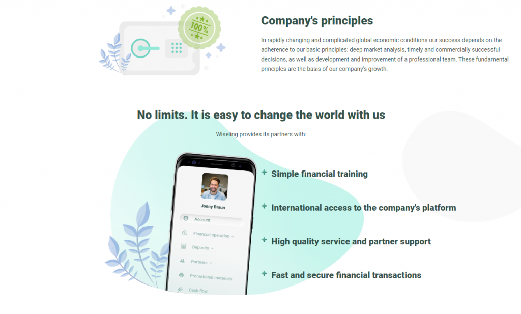 Wiseling Scam Review, Wiseling Features