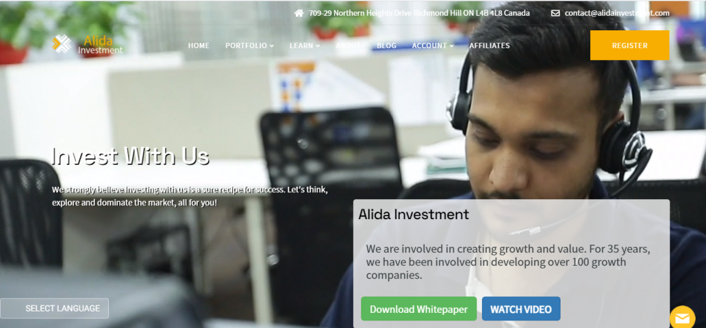 Alida Investment Review, Alida Investment Company