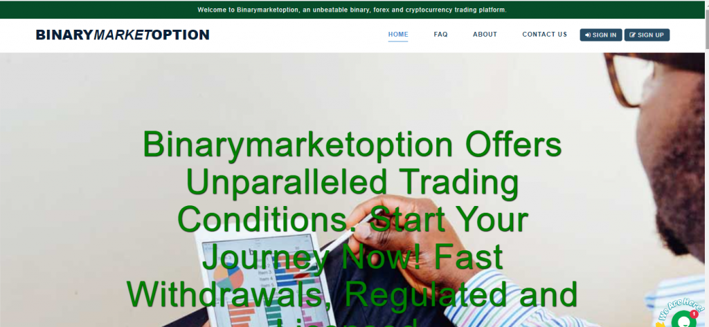 Binarymarketoption.com Scam Review, Binarymarketoption Company