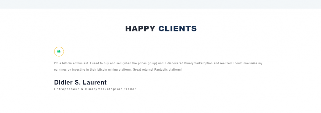 Binarymarketoption Review, Binarymarketoption Testimonials