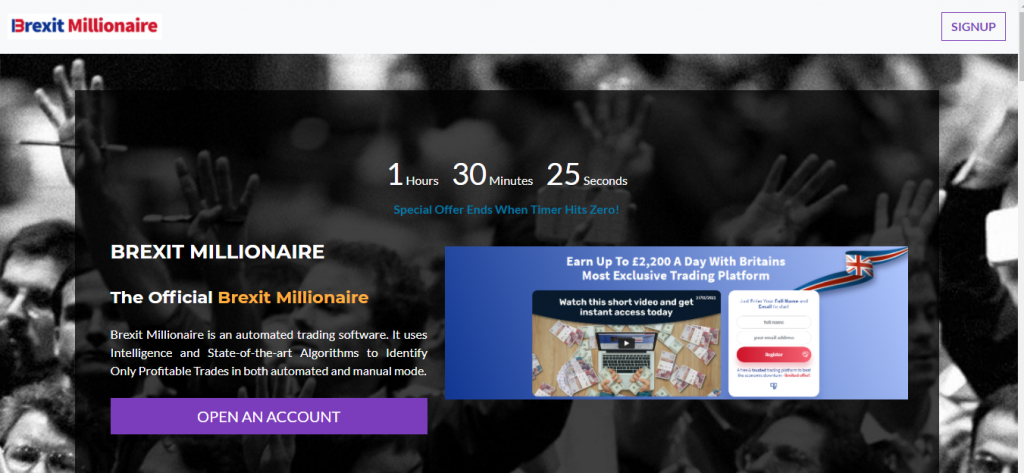 Brexitmillionaire.investerscorp.com recensie, Brexit Millionaire Company