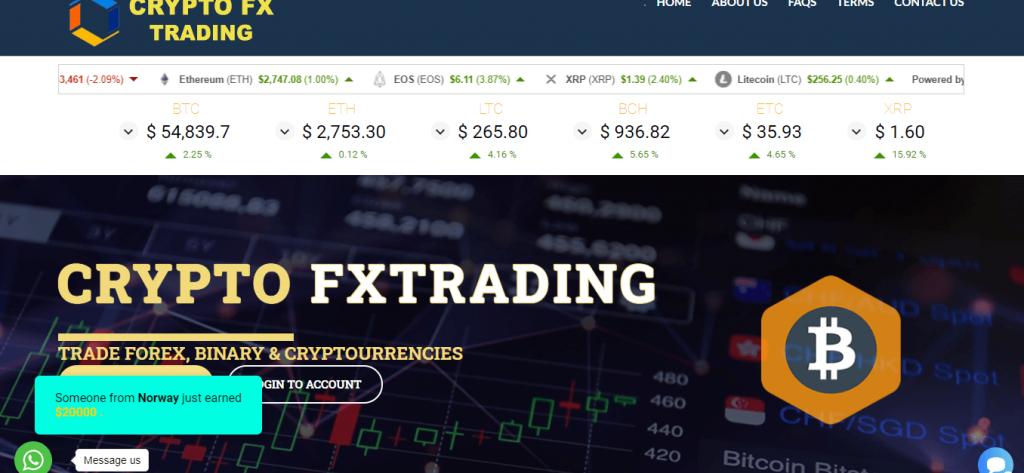 Crypto FXTrading Review, Crypto FXTrading Company