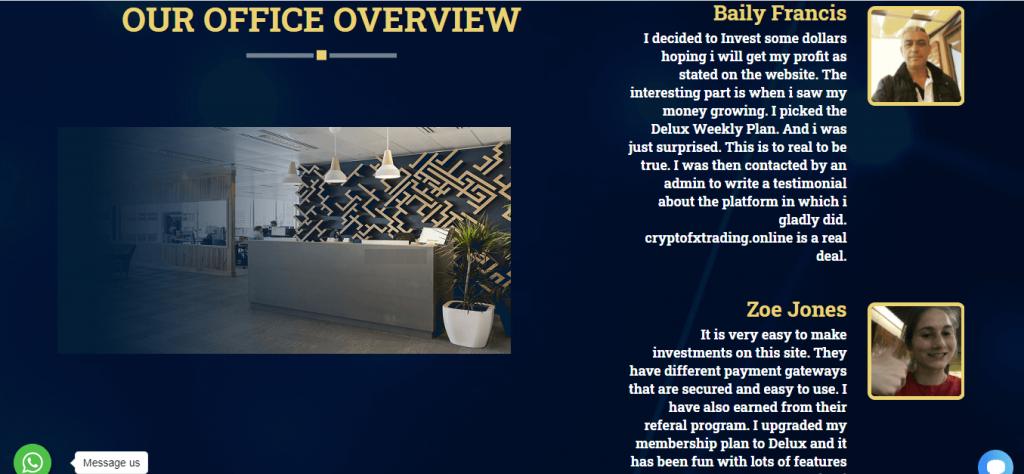 Cryptofxtrading.online Review, Cryptofxtrading.online False Testimonials