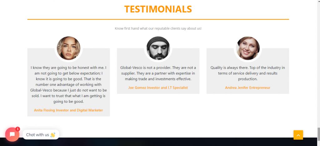 Global-Vesco Review, Global-Vesco Testimonials