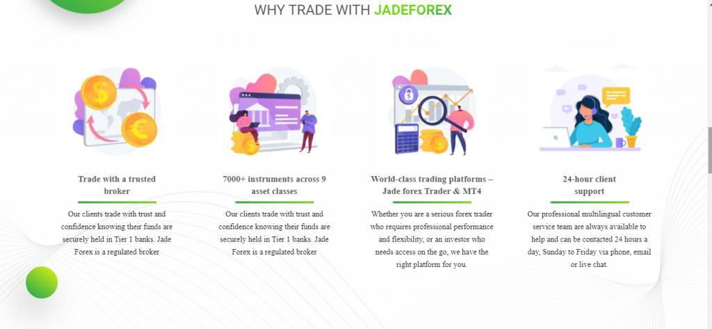 Jade-Forex.com مراجعة ، ميزات JadeForex