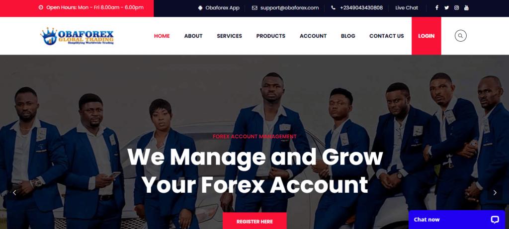 OBAForex Review, OBAForex Company