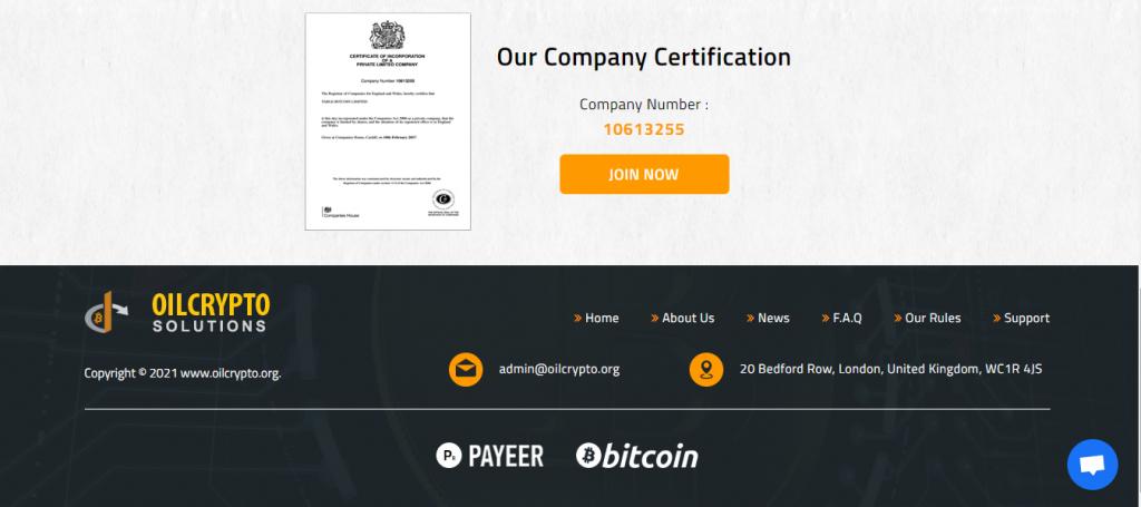 Recenzja OilCrypto.org, rejestracja OilCrypto.org