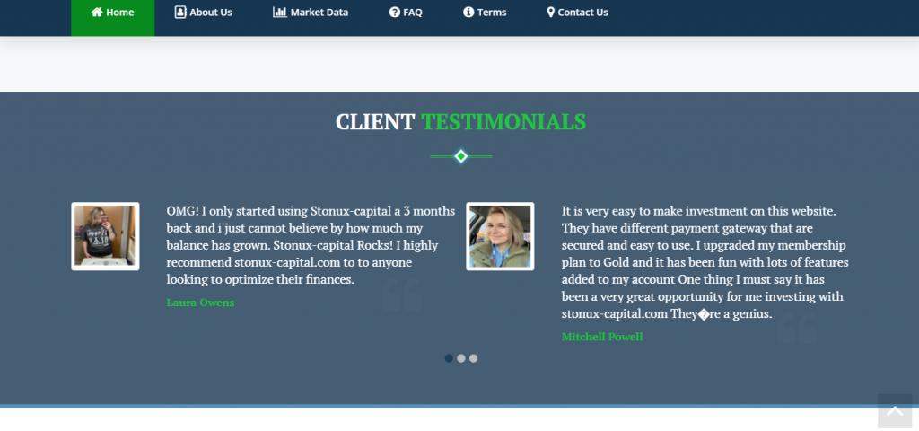 Stonux-Capital.com Scam Review, Stonux-Capital.com Testimonianze