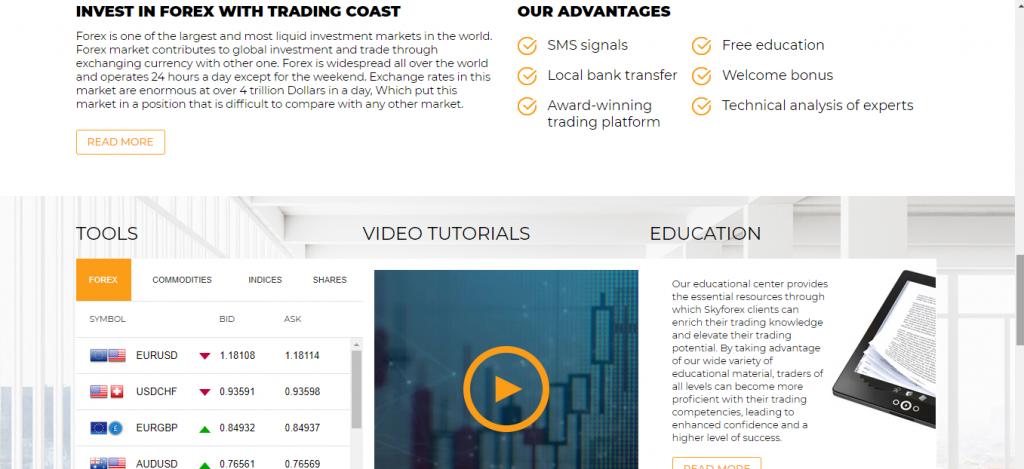 Recensione di Trading-Coast, caratteristiche di Trading-Coast.com