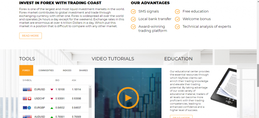 Trading-Coast Review, Trading-Coast.com-functies