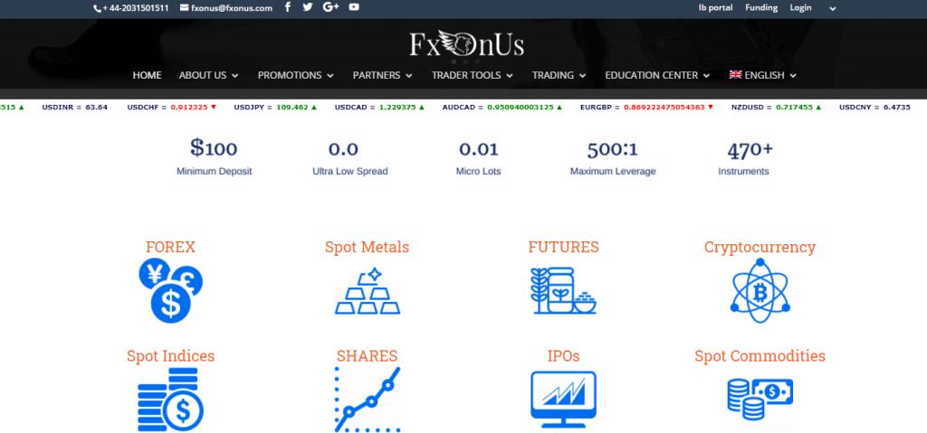 FXOnus Review, FXOnus Features