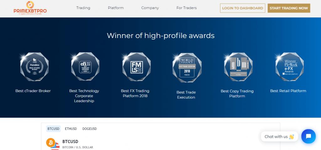 Primexbtpro.com Scam Review, Primexbtpro Features