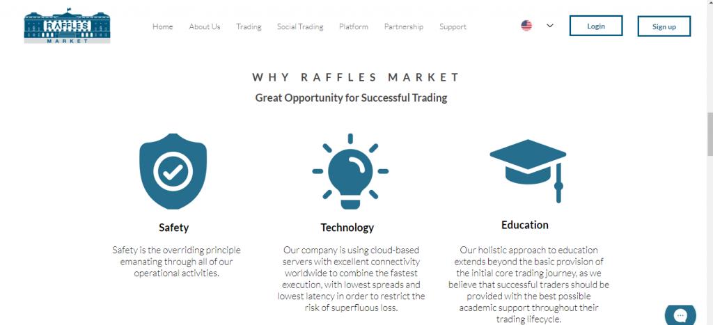 RafflesMarket.com Review, Raffles Market Features