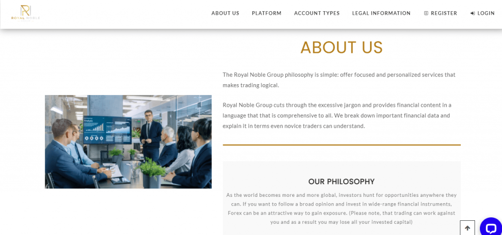 Royal Noble Group Review, Royal Noble Group Features