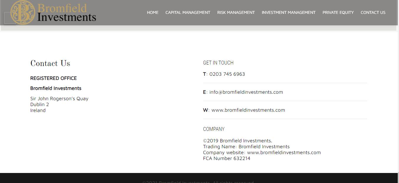 مراجعة Bromfieldinvestment.com ، ترخيص Bromfieldinvestment.com