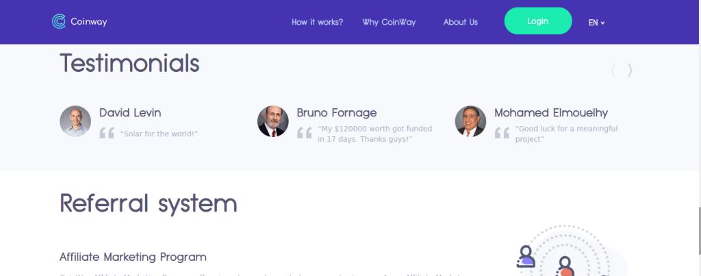 Coinwaypro.co Review, Coinwaypro.co False Testimonials