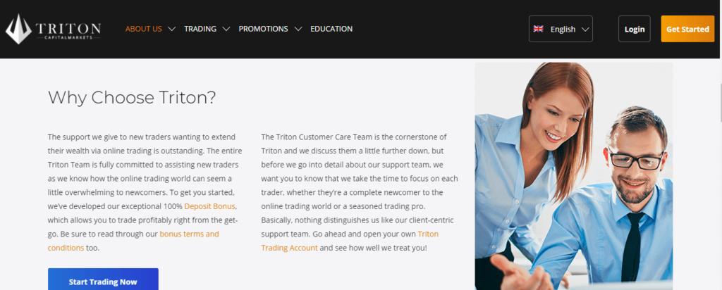 Revisión de Tritoncapitalmarkets.com, Condiciones comerciales de Tritoncapitalmarkets.com