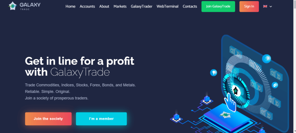 GalaxyTrade Review, GalaxyTrade Company