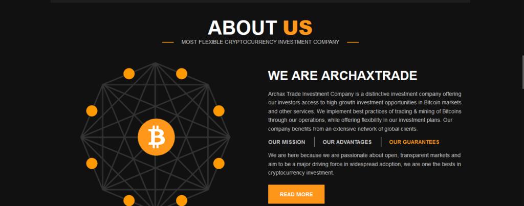 Revisión comercial de Archax, Compañía comercial de Archax
