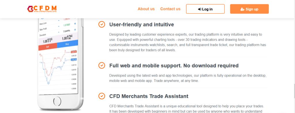 CFDmerchants.com Review, CFDmerchants.com-functies