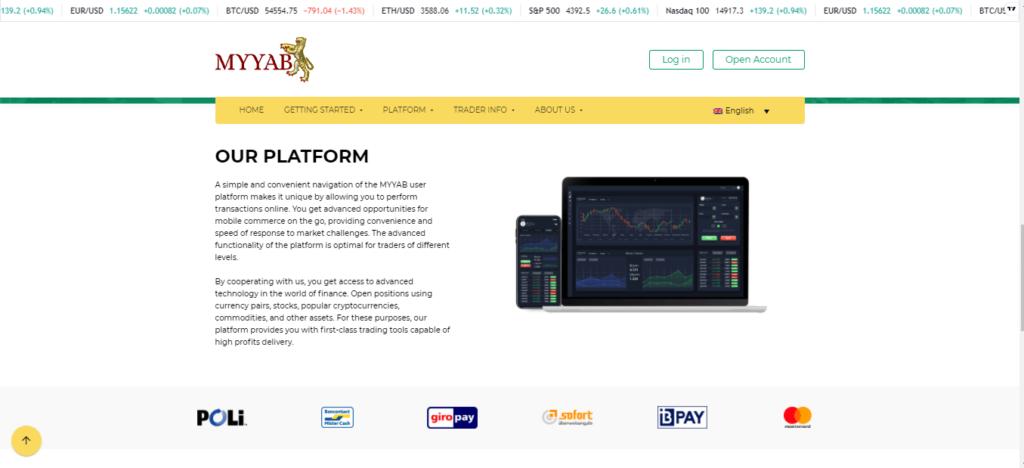 Is myyab.com een gelicentieerd of gereguleerd platform?